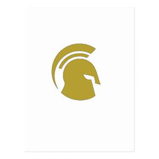 Goldenes spartanisches persönliches Training Rob Postkarte