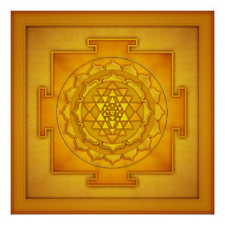 Goldenes Sri Yantra - Artwork II Poster
