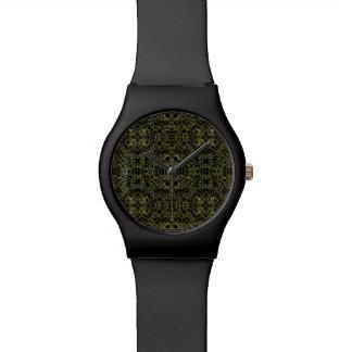 Goldenes Stammes- Muster Geos Armbanduhr