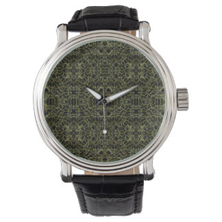 Goldenes Stammes- Muster Geos Uhr