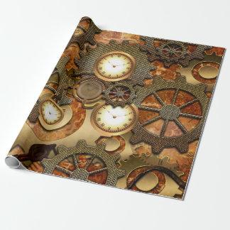 Goldenes steampunk geschenkpapier