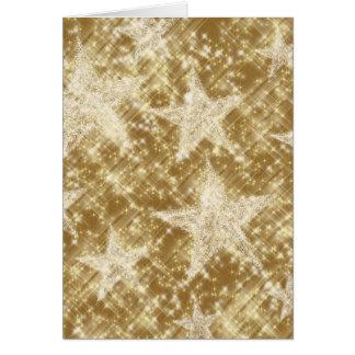 Goldenes Stern-Glitzern-Weihnachten Holydays Grußkarte