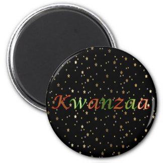 Goldenes Stern-Schwarz-roter grüner runder Magnet Runder Magnet 5,7 Cm
