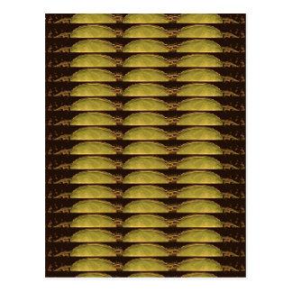 GOLDENES Streifen-Muster: Vom VINTAGEN Idol-Bild Postkarte