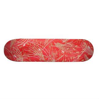 Goldenes Stroh-chinesische rote Freundschaft 18,7 Cm Mini Skateboard Deck