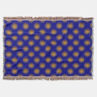 Goldenes Sun-Muster Decke