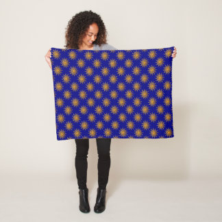 Goldenes Sun-Muster durch Shirley Taylor Fleecedecke