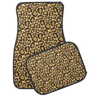 Goldenes Tierhaut-Druck-Muster Browns Jaguar Automatte