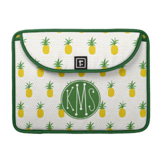 Goldenes tropisches Monogramm der Ananas-| Sleeve Für MacBooks