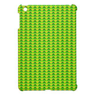 goldenes und grünes elegantes Zickzack iPad Mini Hülle