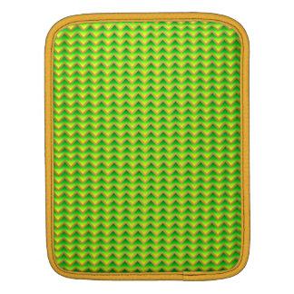 goldenes und grünes elegantes Zickzack Sleeve Für iPads