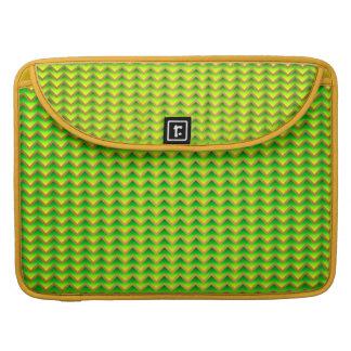 goldenes und grünes elegantes Zickzack Sleeve Für MacBook Pro