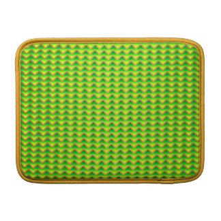 goldenes und grünes elegantes Zickzack Sleeve Fürs MacBook Air