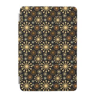 Goldenes und silbernes Schneeflocke-Muster iPad Mini Cover