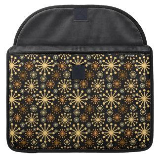 Goldenes und silbernes Schneeflocke-Muster Sleeve Für MacBooks