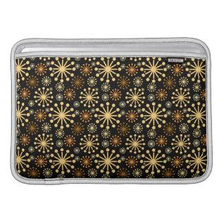 Goldenes und silbernes Schneeflocke-Muster Sleeve Fürs MacBook Air