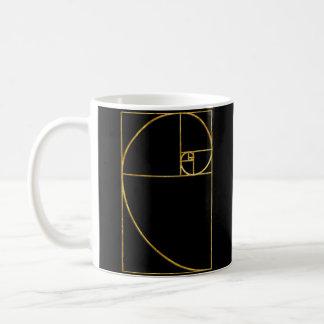Goldenes Verhältnis-heilige Fibonacci-Spirale Kaffeetasse