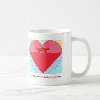 Goldenes Verhältnis-Herz Kaffeetasse