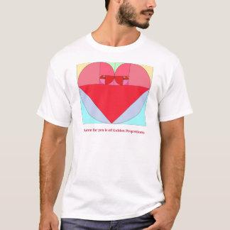 Goldenes Verhältnis-Herz T-Shirt
