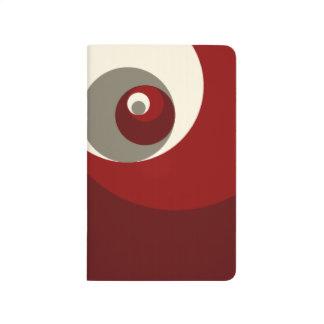 Goldenes Verhältnis kreist ein (Rot) Taschennotizbuch