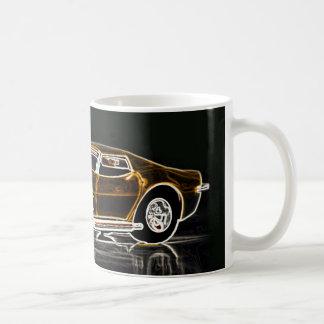 Goldenes Vette Kaffeetasse