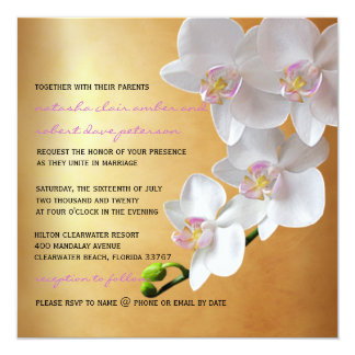 Goldenes Wedding die Steigungs-Glühen-weißen Ankündigungskarte