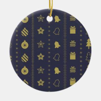 Goldenes Weihnachtsluxusmuster - Keramik Ornament