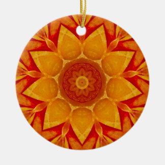 Goldenes Weihnachtsregen-Fraktal Keramik Ornament