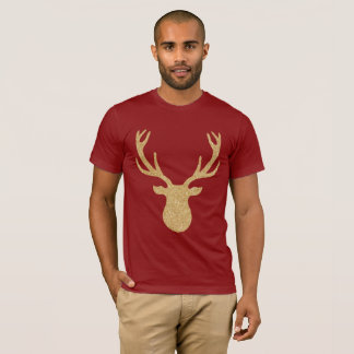 Goldenes Weihnachtsren T-Shirt