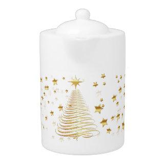 Goldenes WeihnachtsSet - Teekanne