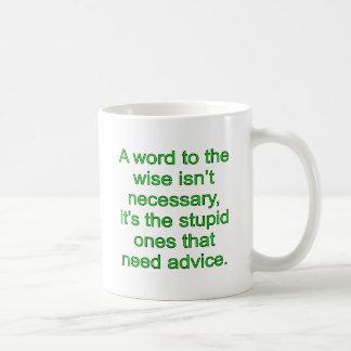 Goldenes Wort Kaffeetasse