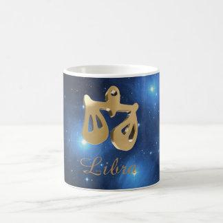 Goldenes Zeichen der Waage Kaffeetasse