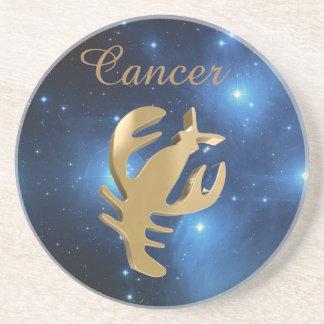 Goldenes Zeichen des Krebses Sandstein Untersetzer