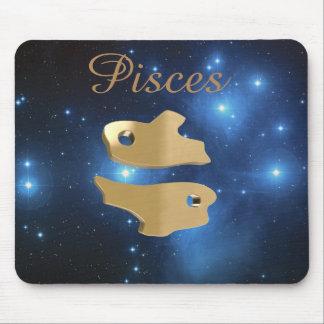 Goldenes Zeichen Fische Mauspads