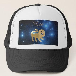 Goldenes Zeichen Löwen Truckerkappe