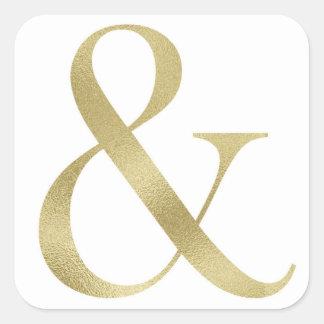 Goldetzeichenaufkleber Quadratischer Aufkleber