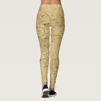 Goldfarbglänzende Muster Gamaschen Leggings