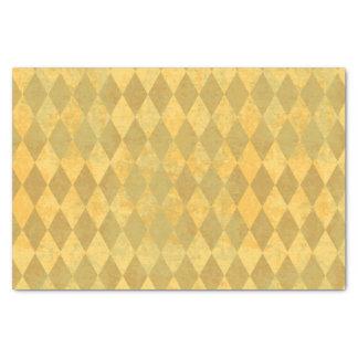 Goldfarbharlekin-Diamant-Muster Seidenpapier