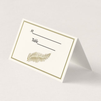 Goldfeder-Feder-Elfenbein BG eskortieren Platzkarte