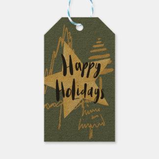 Goldfeiertags-Bäume Geschenkanhänger