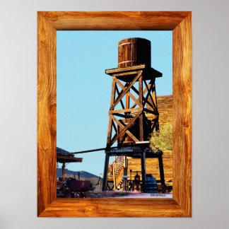 Goldfield alte Weststadt - der Wasserturm Poster
