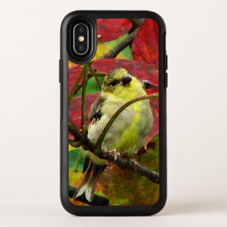 Goldfinch-Vogel in Herbst OtterBox iPhone X Fall OtterBox Symmetry iPhone X Hülle