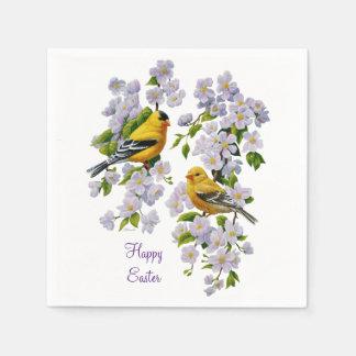 Goldfinch-Vögel u. Blumen U-Auswahl Papierserviette