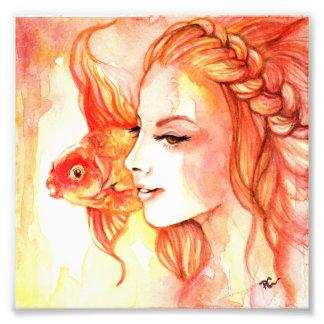 Goldfisch Fotodruck
