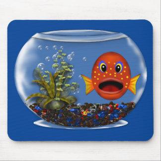 Goldfisch in einer SchüsselMausunterlage Mousepad
