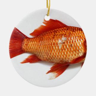 Goldfisch Keramik Ornament