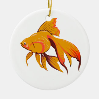Goldfisch Keramik Ornament