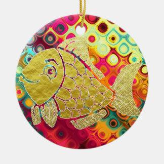 Goldfisch-Leben-Verzierung Keramik Ornament