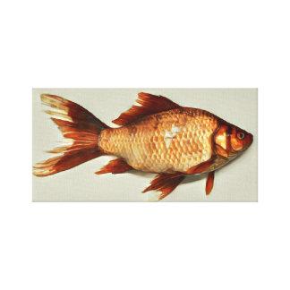 Goldfisch-Malerei Leinwanddruck
