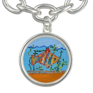 Goldfisch-Mosaik Armband